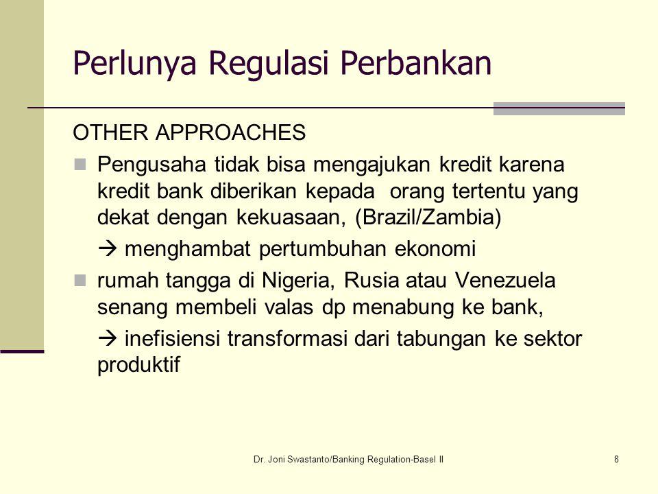 19 Perlunya Regulasi Perbankan Pemilik deposito juga memiliki perilaku yang sama terhadap bank, memilih deposito jangka pendek untuk menghindari risk taking oleh bankir Bank juga menghadapi information asymmetries.