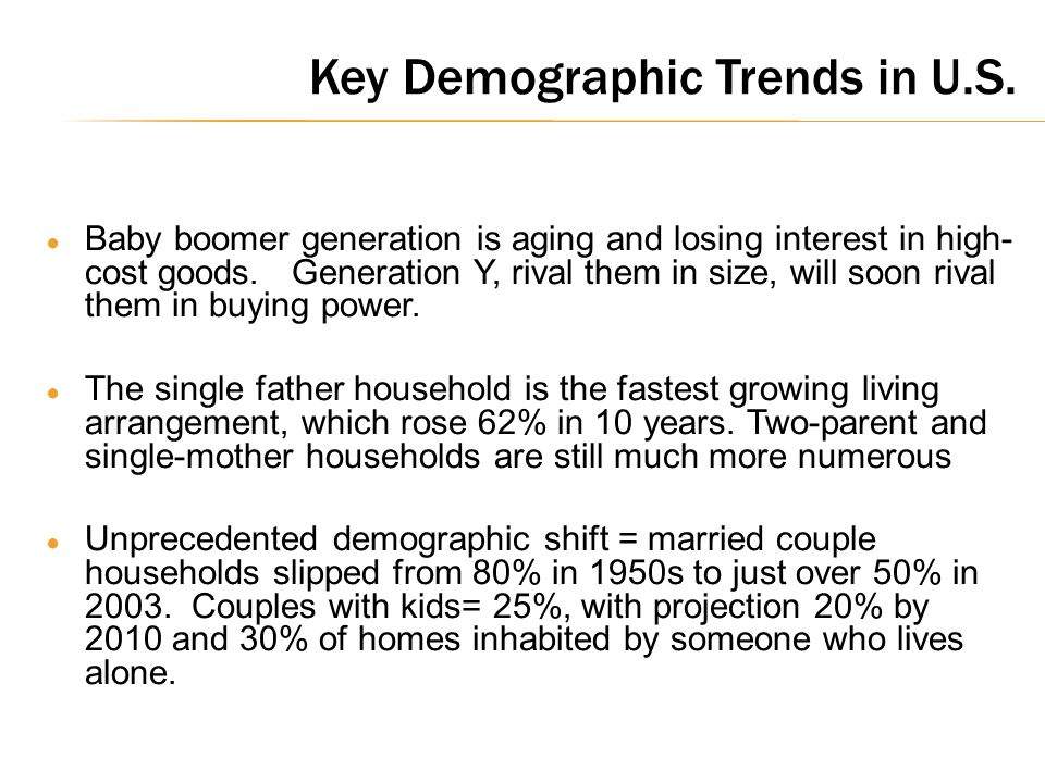 Key Demographic Trends in U.S.