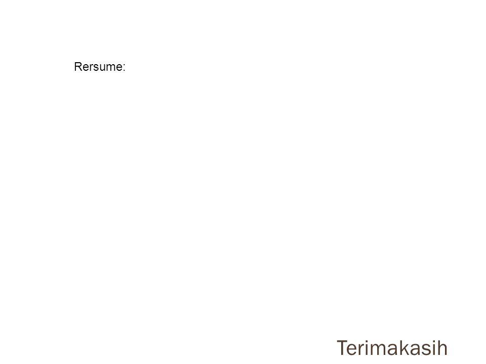Terimakasih Rersume: