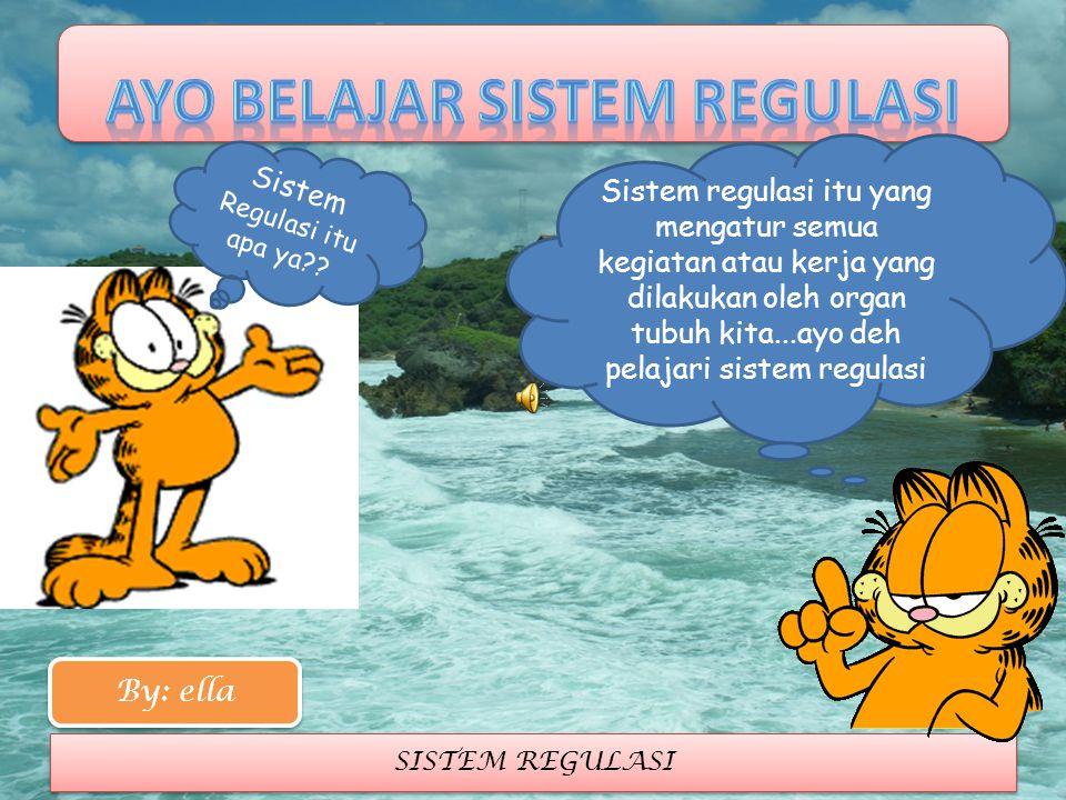 SISTEM REGULASI Sistem Regulasi itu apa ya?? Sistem regulasi itu yang mengatur semua kegiatan atau kerja yang dilakukan oleh organ tubuh kita...ayo de