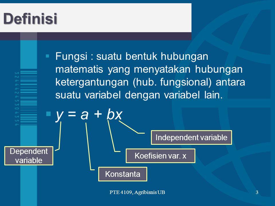 Jenis-jenis fungsi PTE 4109, Agribisnis UB4 Fungsi F.Pangkat F.