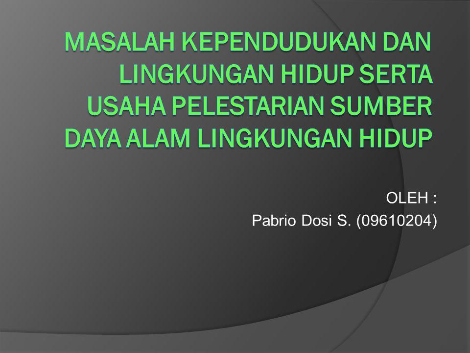 OLEH : Pabrio Dosi S. (09610204)