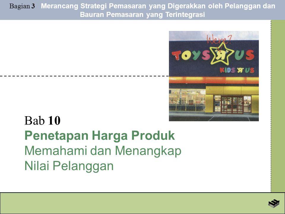 Bab 10 Penetapan Harga Produk Memahami dan Menangkap Nilai Pelanggan Bagian 3 Merancang Strategi Pemasaran yang Digerakkan oleh Pelanggan dan Bauran Pemasaran yang Terintegrasi