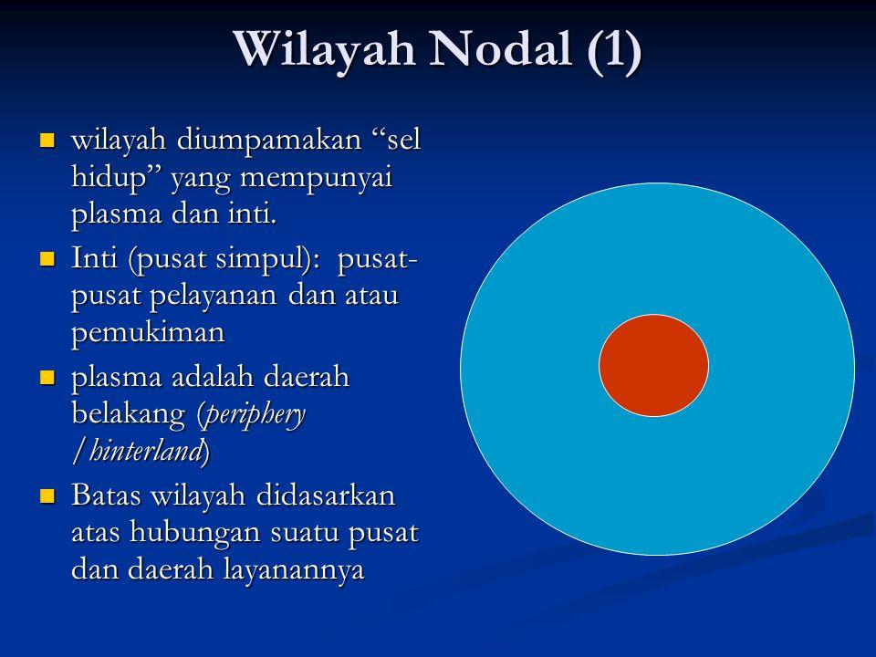 """Wilayah Nodal (1) wilayah diumpamakan """"sel hidup"""" yang mempunyai plasma dan inti. wilayah diumpamakan """"sel hidup"""" yang mempunyai plasma dan inti. Inti"""