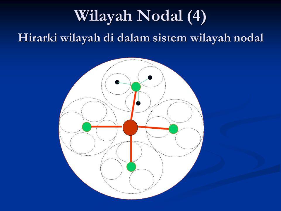 Hirarki wilayah di dalam sistem wilayah nodal 1 2 2 2 2 33 33 33 33 33 33 33 33 33 33 33 33 33 Wilayah Nodal (4)