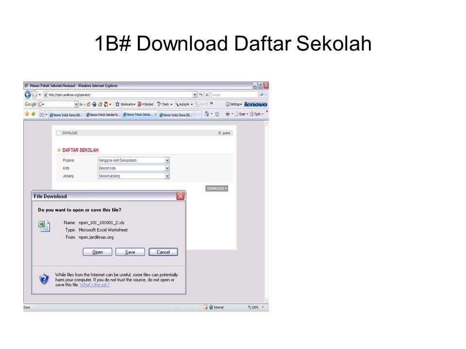 1B# Download Daftar Sekolah