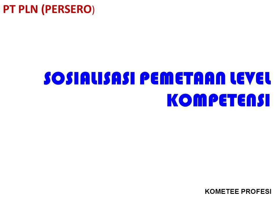 SOSIALISASI PEMETAAN LEVEL KOMPETENSI PT PLN (PERSERO ) KOMETEE PROFESI