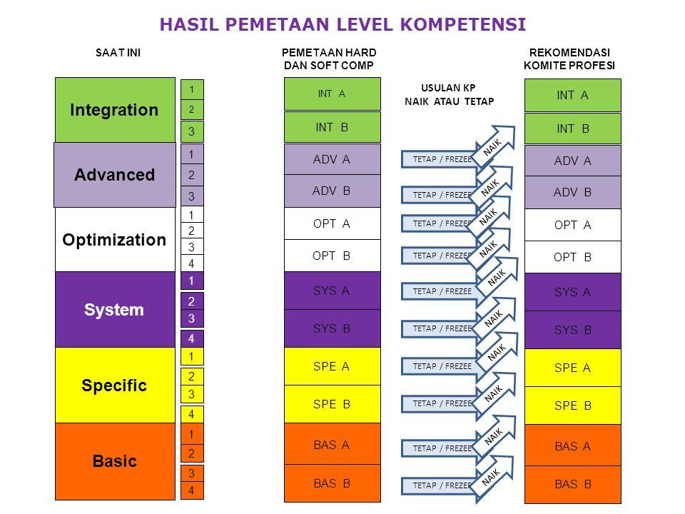 Integration Advanced Optimization System Specific Basic 1 2 3 1 2 3 1 2 3 4 1 2 3 4 1 2 3 4 1 2 3 4 BAS A BAS B SPE A SPE B SYS A SYS B OPT A OPT B AD