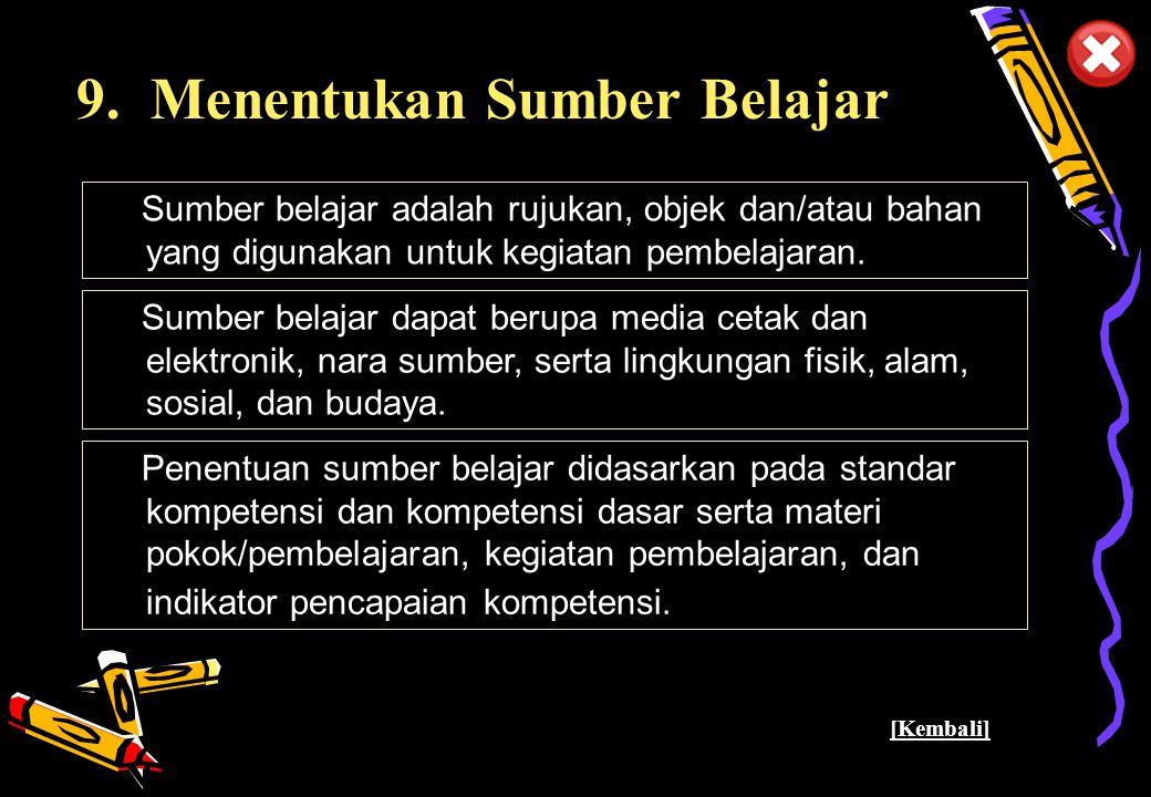 Pusat Kurikulum - Balitbang Depdiknas 35 9.