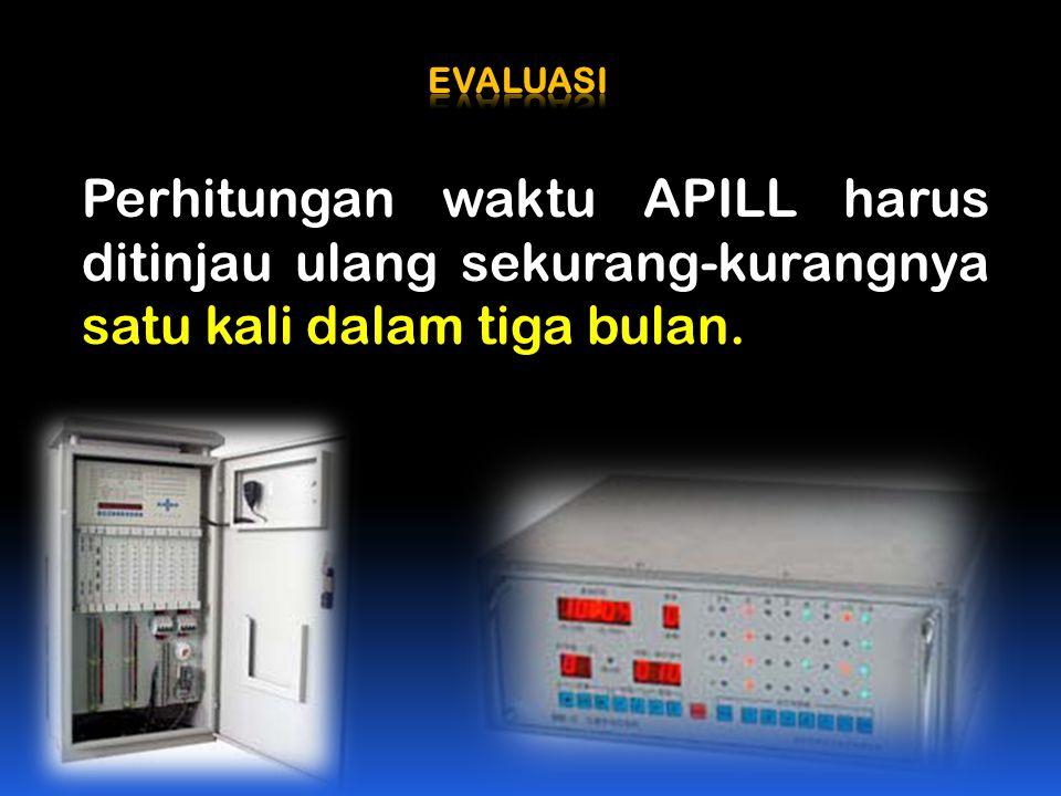 Perhitungan waktu APILL harus ditinjau ulang sekurang-kurangnya satu kali dalam tiga bulan.
