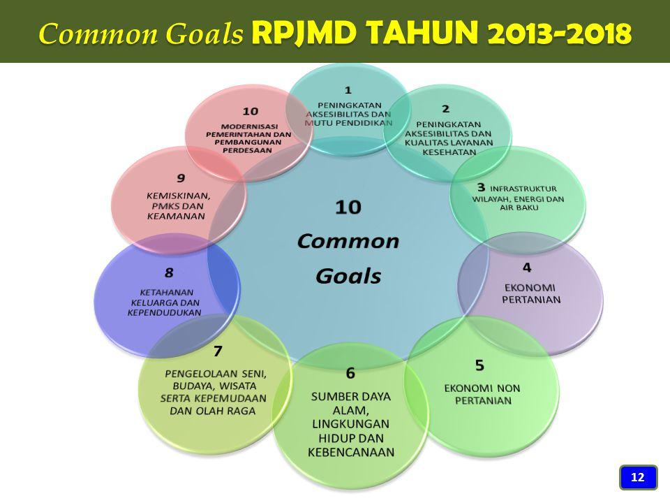 Common Goals RPJMD TAHUN 2013-2018 12
