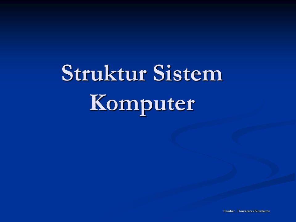 Struktur Sistem Komputer Sumber : Universitas Binadarma