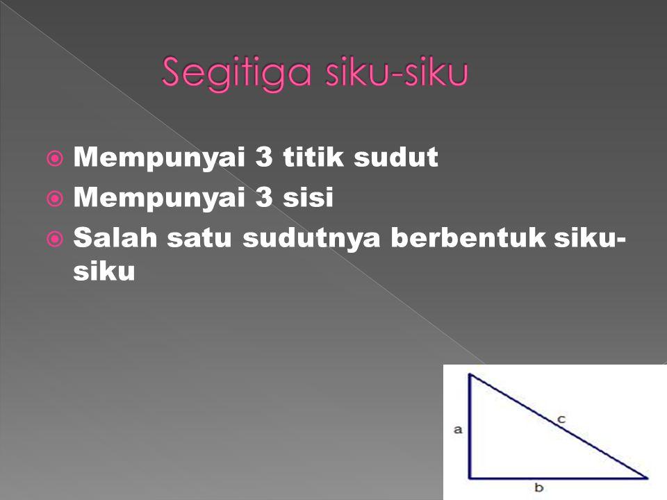 Memiliki empat sisi dan empat titik sudut Memiliki sepasang sisi yang sejajar tetapi tidak sama panjang Sudut-sudut diantara sisi sejajar besarnya 180°