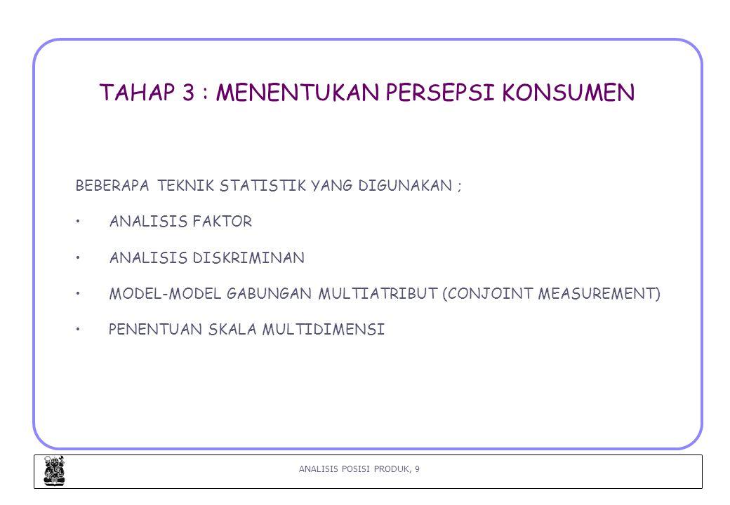 ANALISIS POSISI PRODUK, 20 LANGKAH 8 : MEMILIH STRATEGI PENENTUAN POSISI (BOYD, 2000) (2) 3.