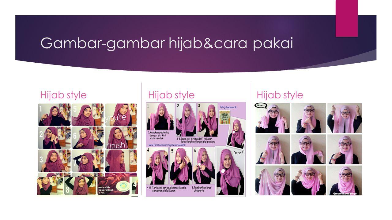 Gambar-gambar hijab&cara pakai Hijab style