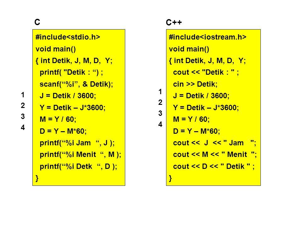 #include void main() { int Detik, J, M, D, Y; cout <<