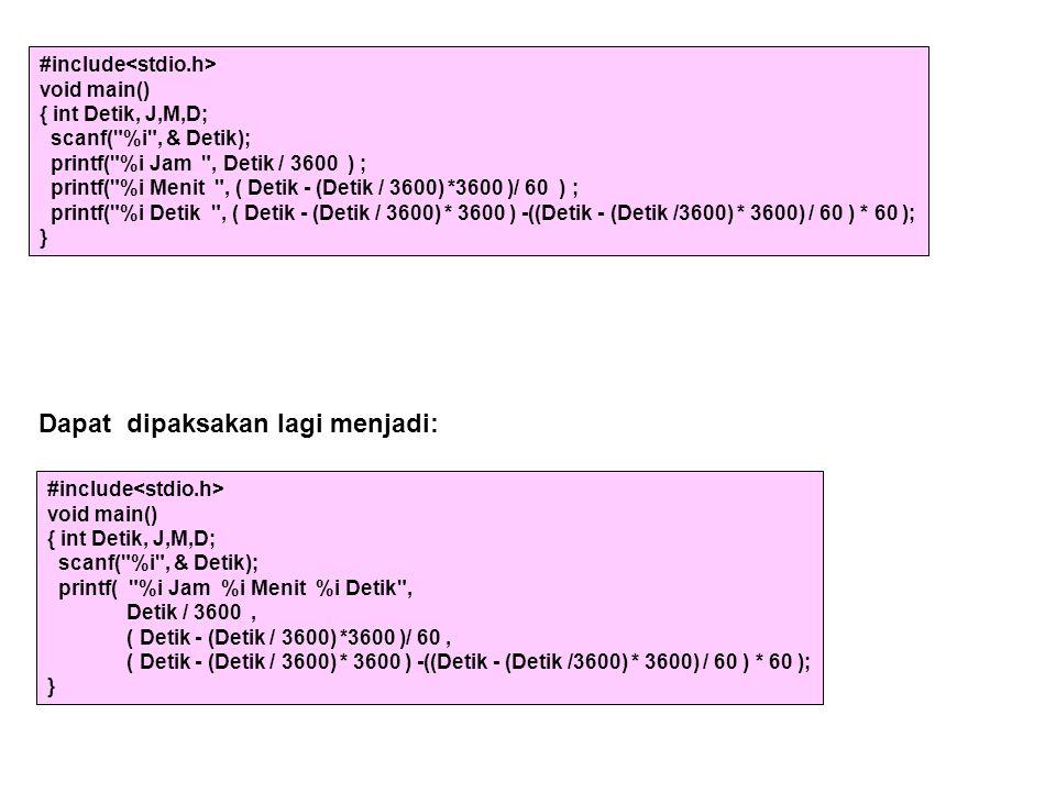 #include void main() { int Detik, J,M,D; scanf(