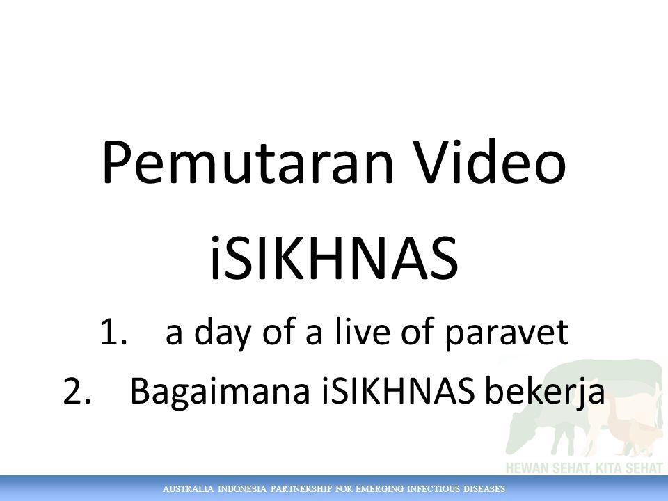 Pemutaran Video iSIKHNAS 1.a day of a live of paravet 2.Bagaimana iSIKHNAS bekerja