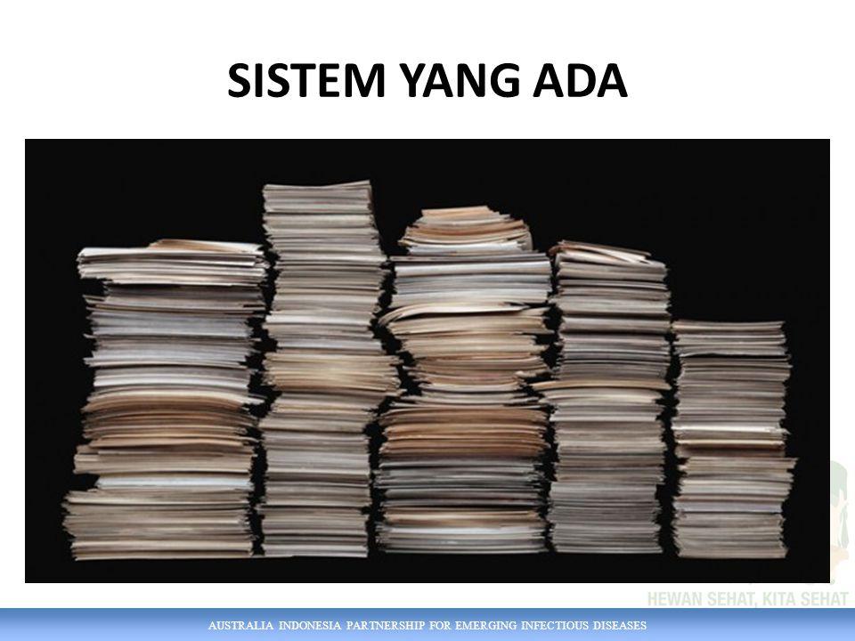 AUSTRALIA INDONESIA PARTNERSHIP FOR EMERGING INFECTIOUS DISEASES SISTEM BARU