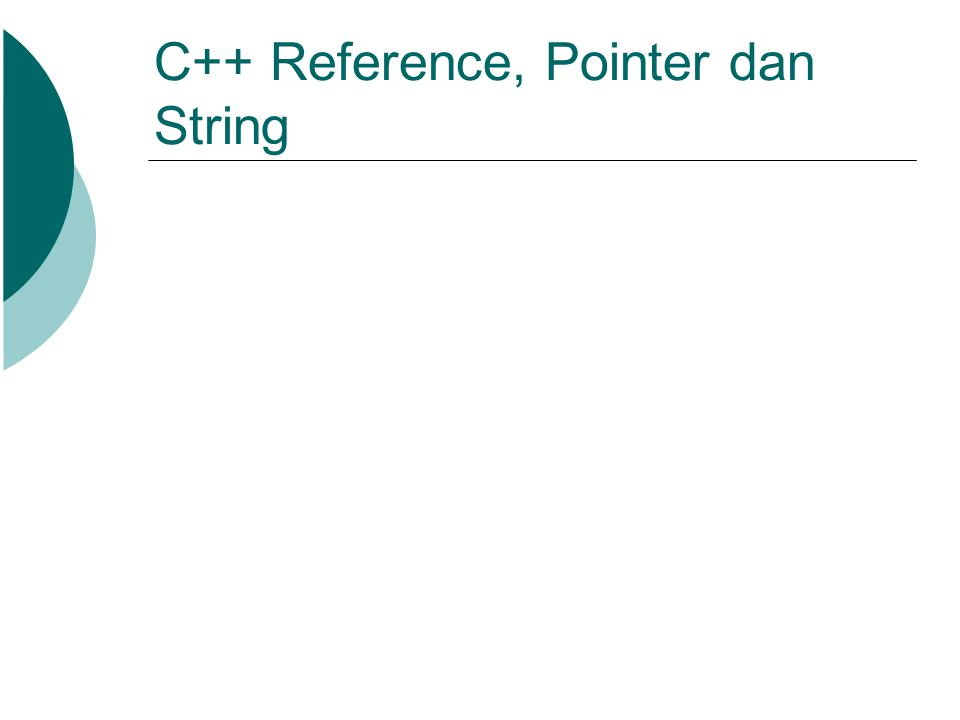 C++ Reference, Pointer dan String