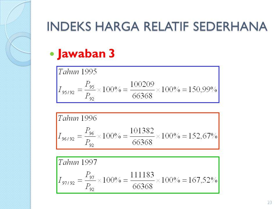 INDEKS HARGA RELATIF SEDERHANA Jawaban 3 23