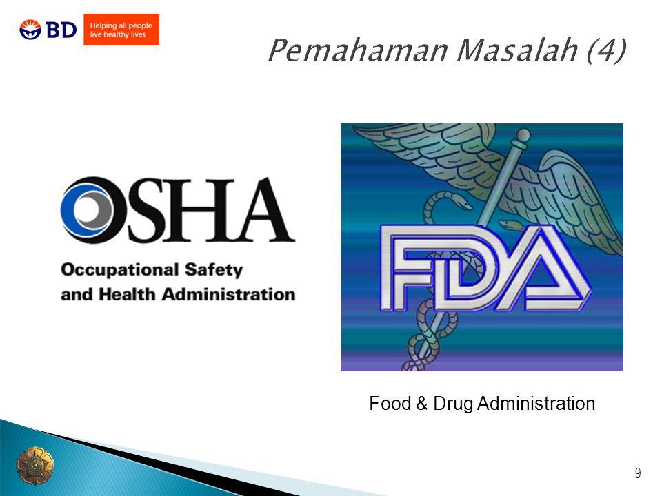 9 Pemahaman Masalah (4) Food & Drug Administration