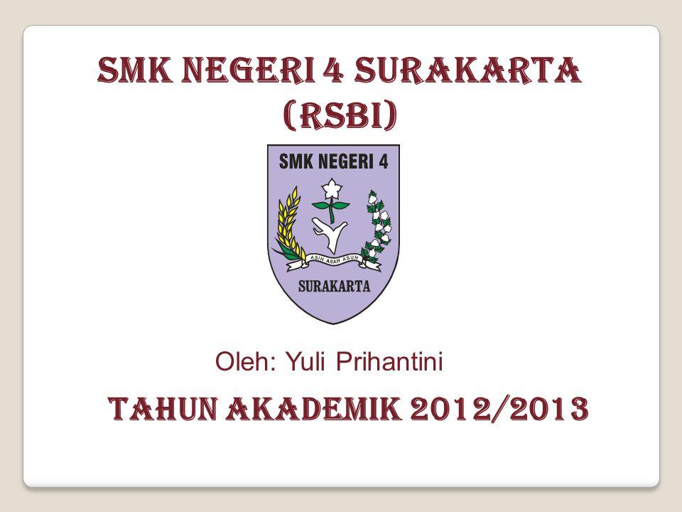 SMK NEGERI 4 SURAKARTA (RSBI) TAHUN AKADEMIK 2012/2013 Oleh: Yuli Prihantini
