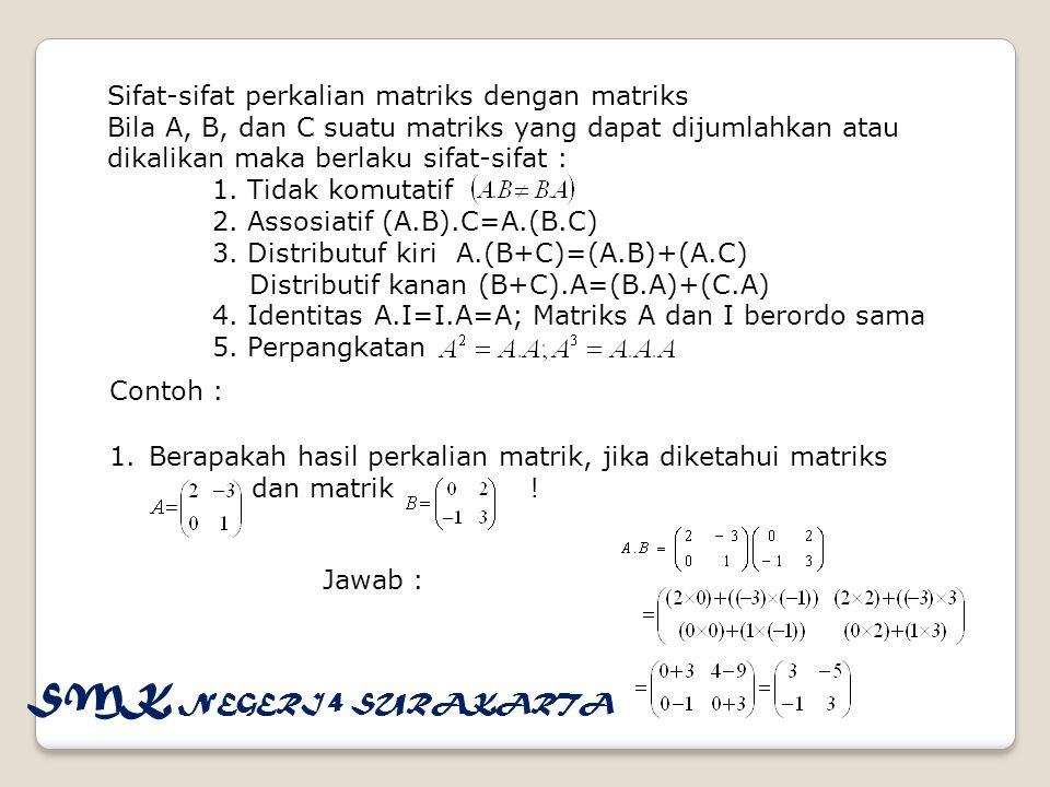 Soal diskusi 1.Diketahui suatu matriks danmaka tentukan a.