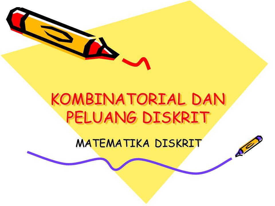 Matematika Diskrit1 Materi Kaidah Menghitung Inklusi-Eksklusi Permutasi Kombinasi