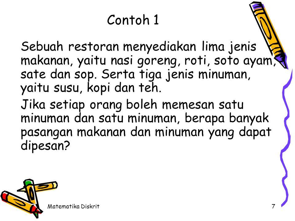 Matematika Diskrit18 Latihan (Cont.) 7.