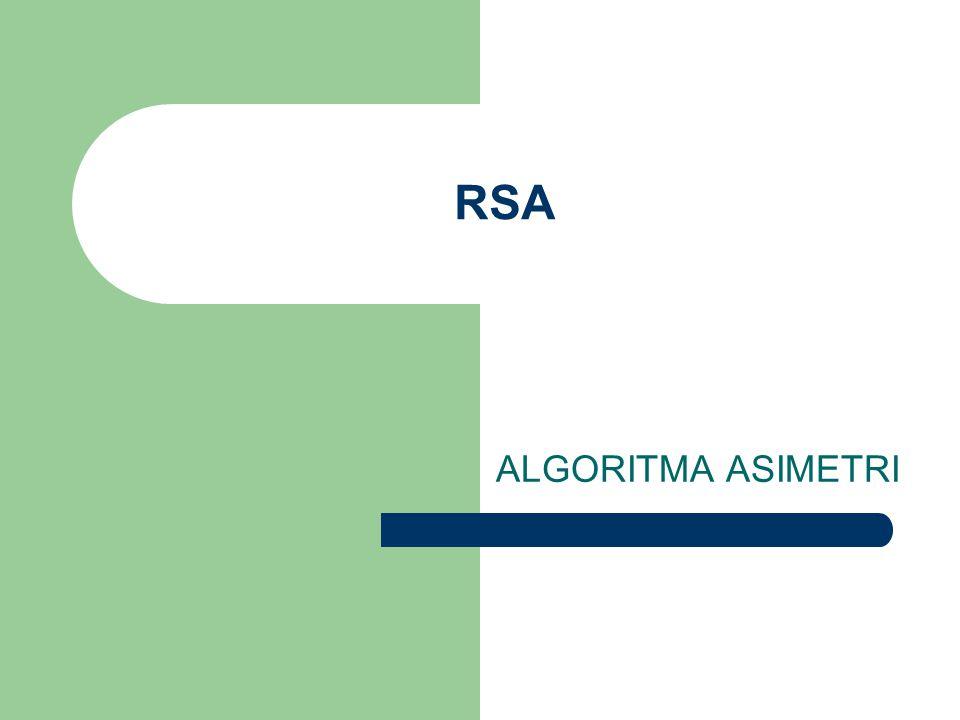 RSA ALGORITMA ASIMETRI