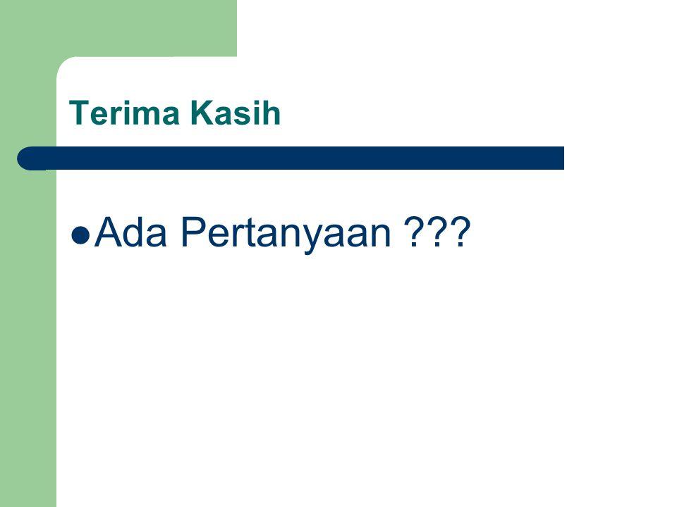 Terima Kasih Ada Pertanyaan ???