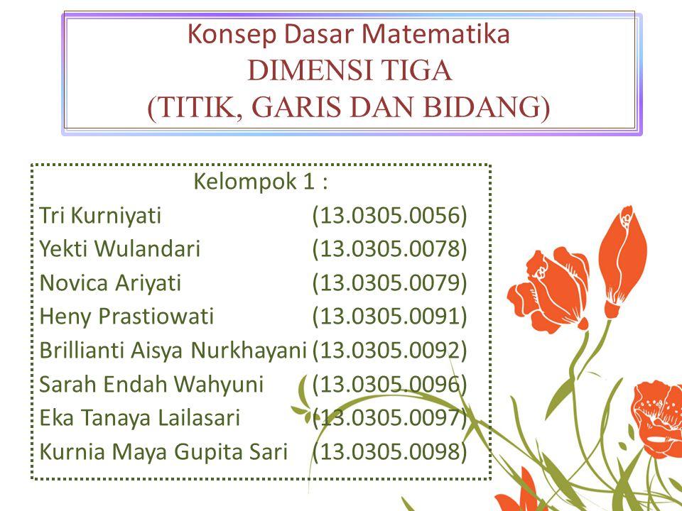 Kelompok 1 : Tri Kurniyati (13.0305.0056) Yekti Wulandari(13.0305.0078) Novica Ariyati(13.0305.0079) Heny Prastiowati(13.0305.0091) Brillianti Aisya N