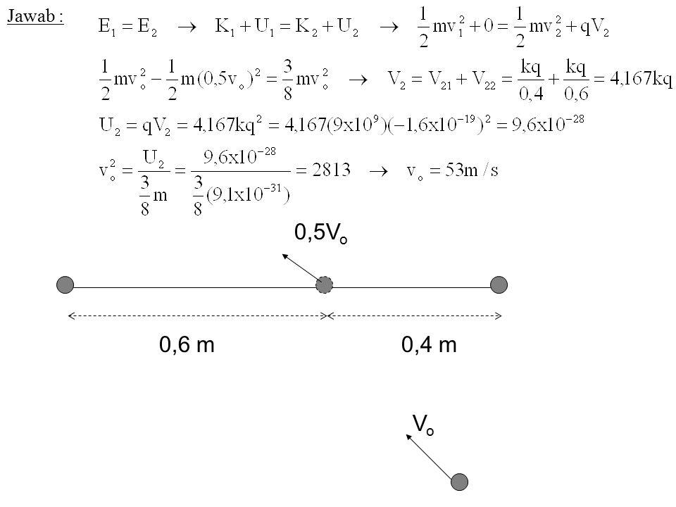 Jawab : VoVo 0,5V o 0,4 m0,6 m