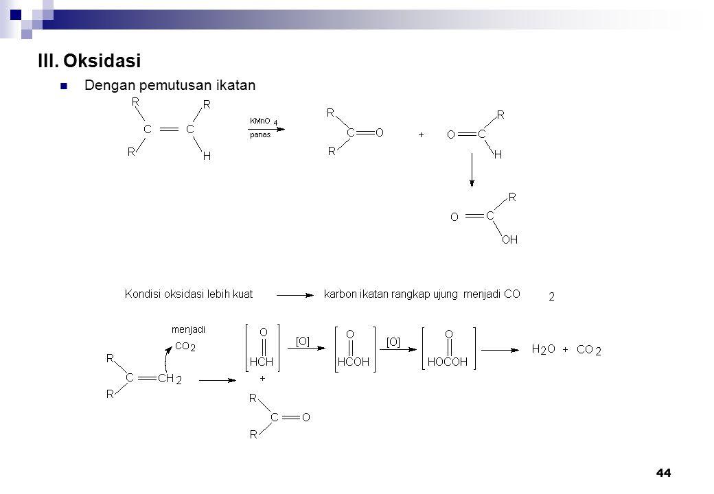 44 III. Oksidasi Dengan pemutusan ikatan