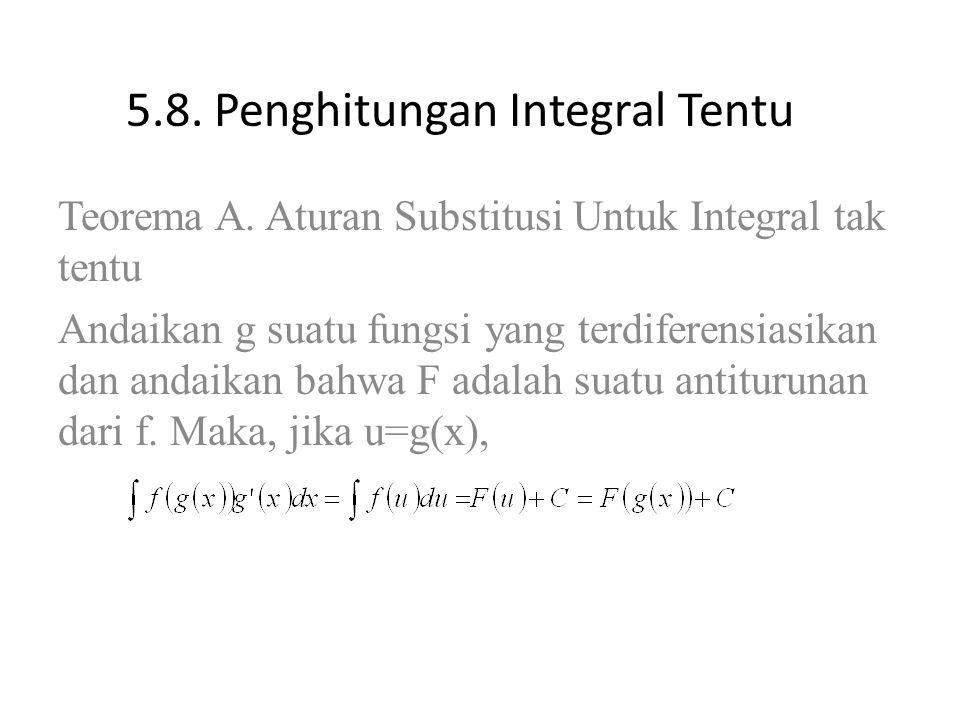5.8.Penghitungan Integral Tentu Teorema A.
