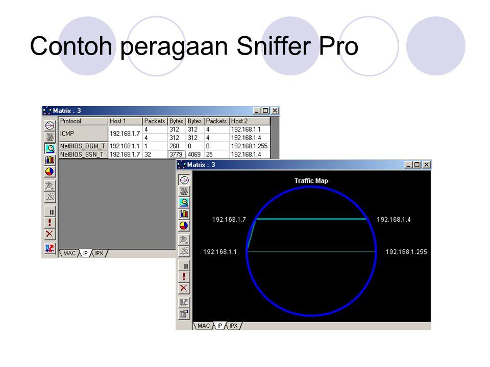 Contoh peragaan Sniffer Pro