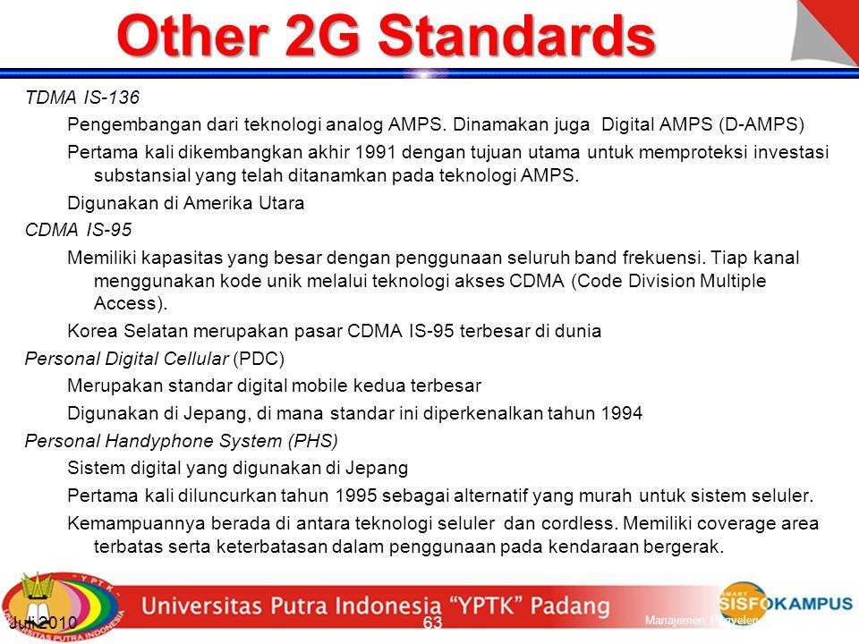 Mobile Standard Second Generation (2G) Berbasis teknologi digital.
