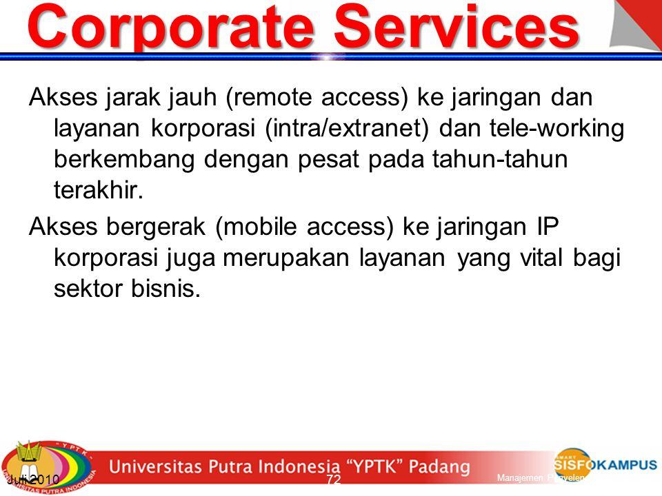 Multimedia Services Layanan multimedia, yang awalnya dikenal dari Internet, dimulai dengan dikenalkannya jaringan bergerak 3G.