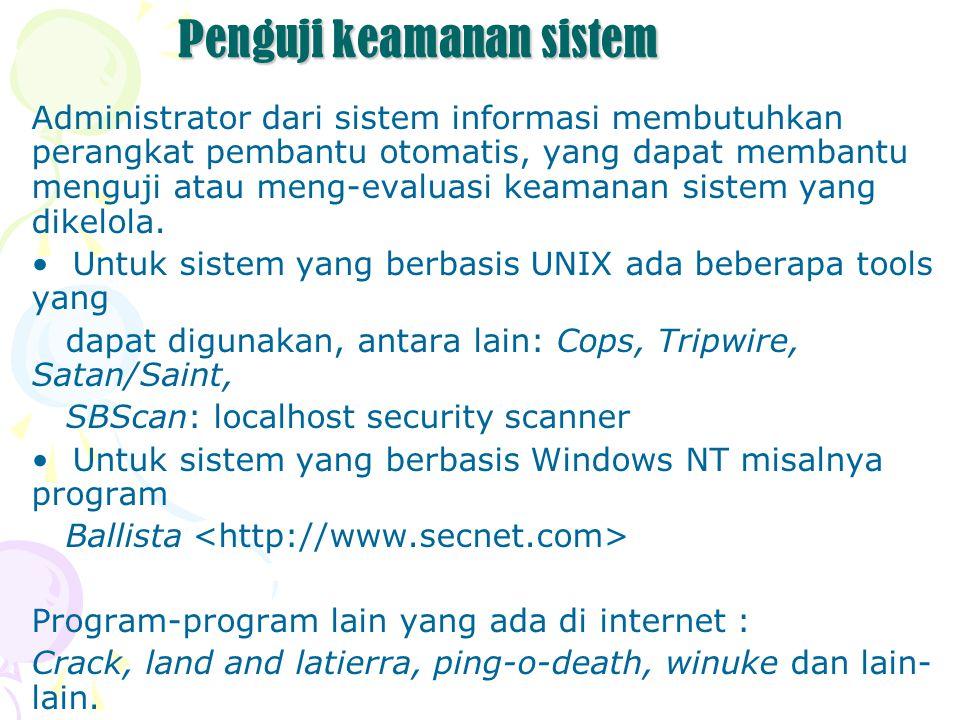 Probing Services Servis di Internet umumnya dilakukan dengan menggunakan protokol TCP atau UDP.