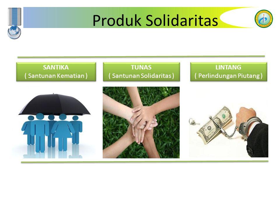 Produk Solidaritas SANTIKA ( Santunan Kematian ) TUNAS ( Santunan Solidaritas ) LINTANG ( Perlindungan Piutang )