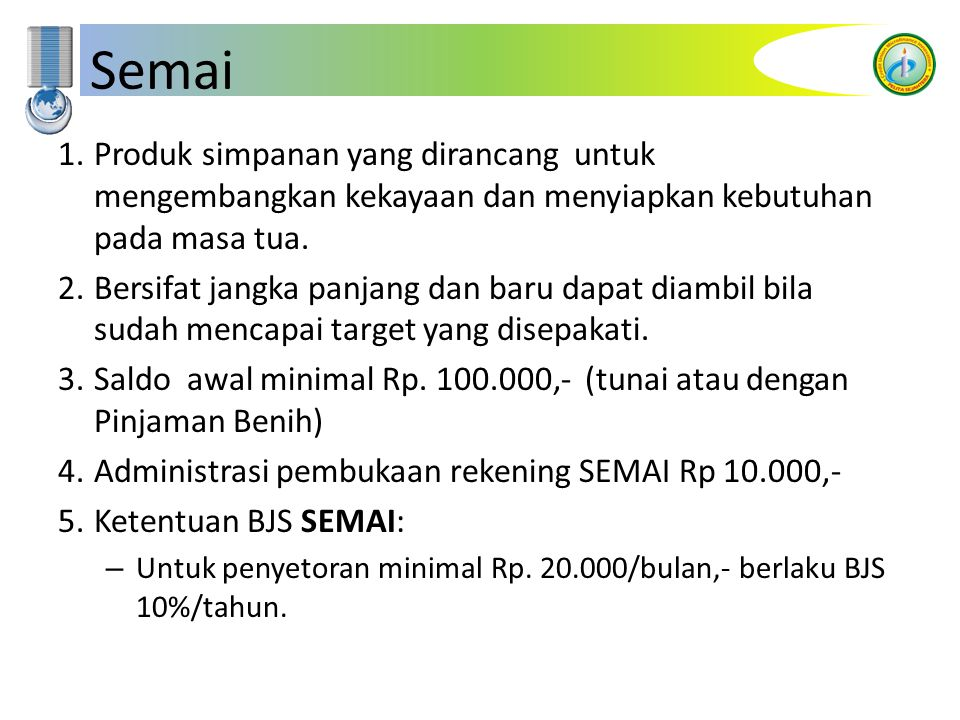 Bestari 1.Pinjaman untuk memenuhi kebutuhan pembiayaan pendidikan.