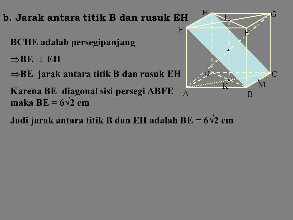 B C A K D F G L H E M hipotenusa segitiga siku- siku ACG di C AG = = = =