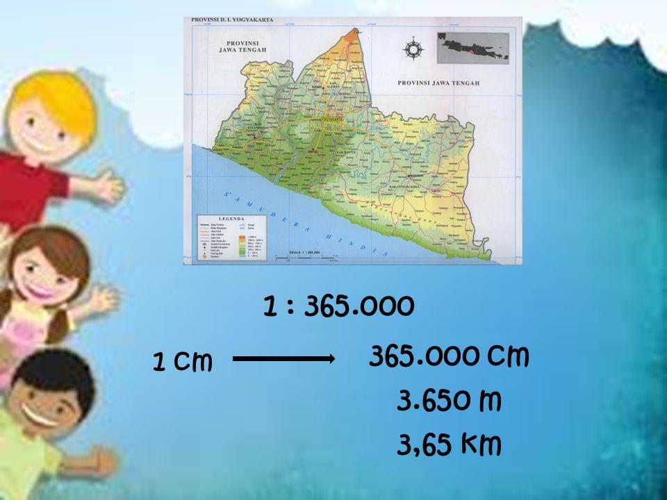 1 : 365.000 1 cm 365.000 cm 3.650 m 3,65 km