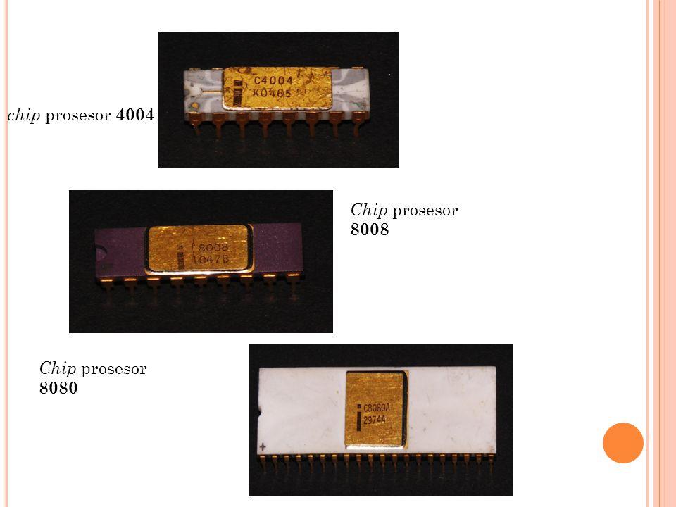 chip prosesor 4004 Chip prosesor 8008 Chip prosesor 8080