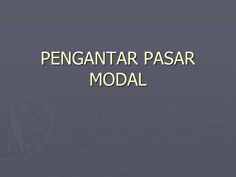 PENGANTAR PASAR MODAL