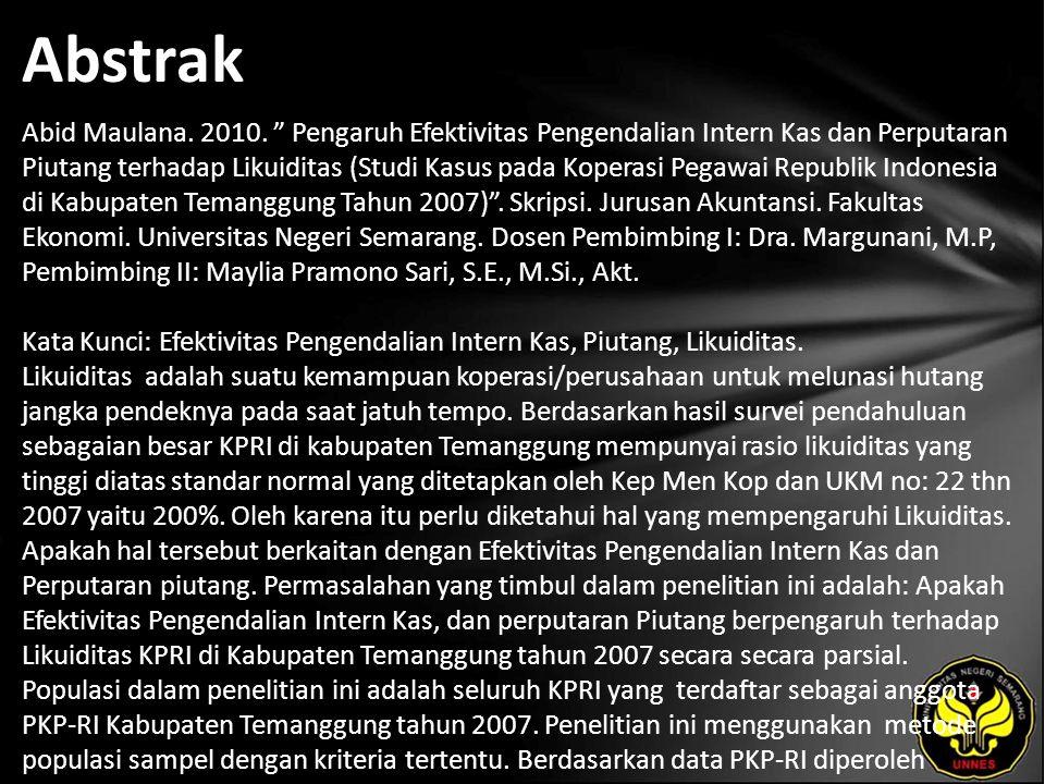 Abstrak Abid Maulana. 2010.