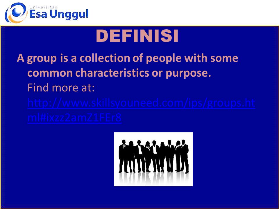 DEFINISI A team is generally more specific.