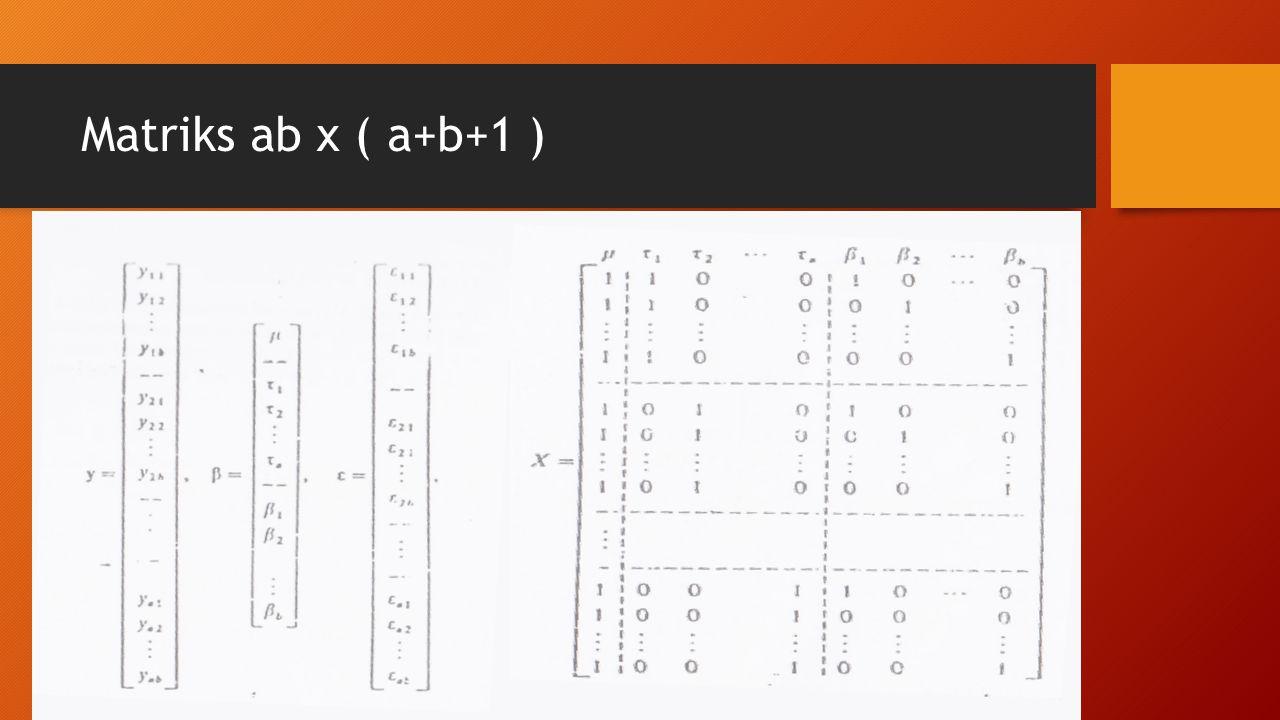 Matriks ab x ( a+b+1 )