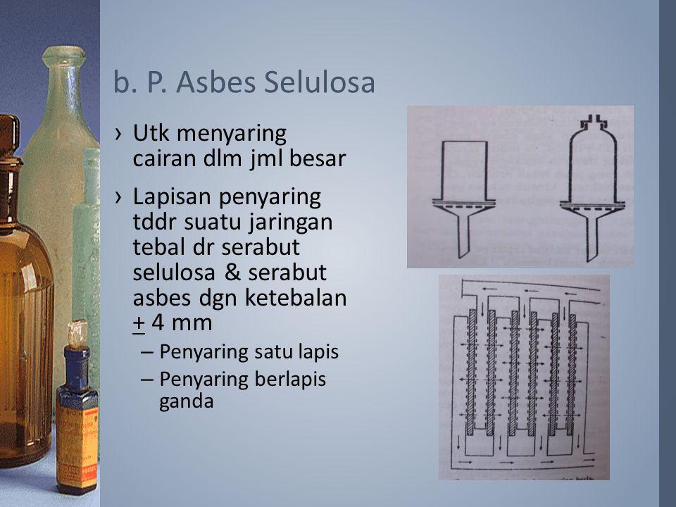 ›Utk menyaring cairan dlm jml besar ›Lapisan penyaring tddr suatu jaringan tebal dr serabut selulosa & serabut asbes dgn ketebalan + 4 mm –Penyaring s